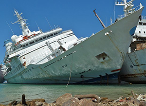 """Work on the famous """"Love Boat"""" Cruise Ship kills 2 and injures 8"""